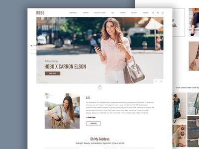 Hobo Bags Landing Page