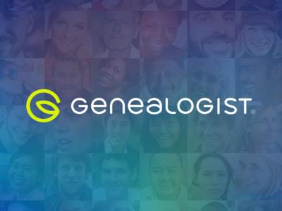 Genealogist® logo identity branding icon typography family genealogy