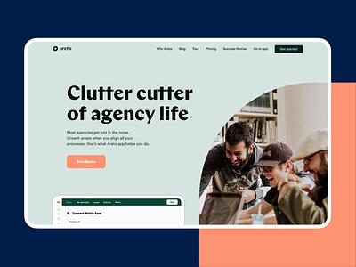 Areto concept ux web page businesswebsite business webdesign website web visualidentity colors design uidesign logo branding ui