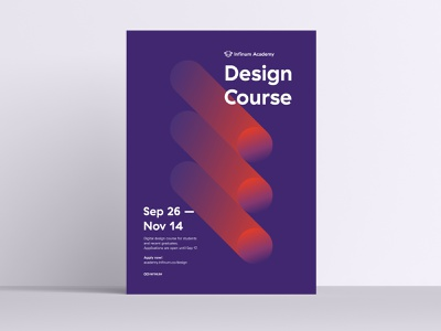 Poster design process 02 interaction animation graphic design gradient motion illustration vector process colors design