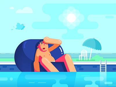 Hot Flat flat flatdesign characters 2d illustration