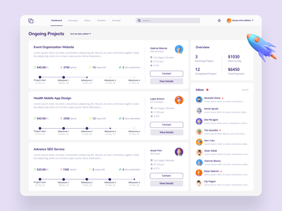 Client portal Dashboard dasboard client portal web simple minimal 3d uiux userinterface admin dashboard design admin ux ui