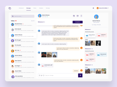 Client portal message group chat documents file sharing file upload conversation message chat chat app saas website concepts website uxdesign ui ux clean minimal