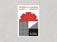 Madrid festivities stamp
