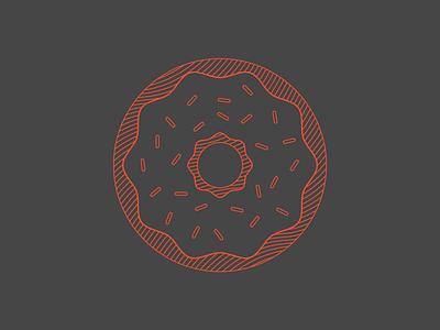 0 - 36 Days of Type breakfast red black monoline doughnut donut o 0 36 days of type