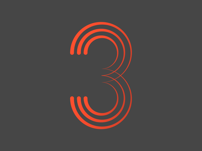 3 - 36 Days of Type lines adobe alphabet numbers letters three 3 36 days of type