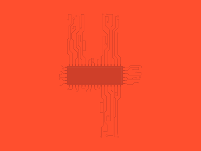 4 - 36 Days of Type computer red 4 circuitboard circuit board circuit 36 days of type