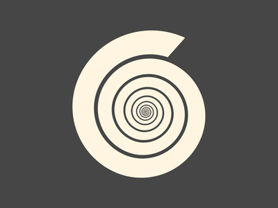 6 - 36 Days of Type shapes lettering letters alphabet numbers white black spiral 6 36 days of type