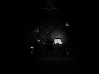 Working Late clock light suit chair man pencil late work desk white black black and white film noir noir