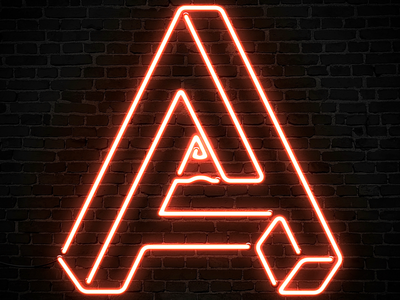 Impossibly Awesome Design Co. brick logo a impossible letters sign neon