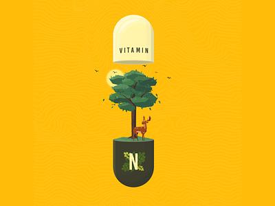 Viatmin N outdoors green yellow sun birds dder trees tree supplement nature pill medicine vitamin
