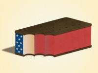 Patriotic Ice Cream Sandwich