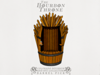The Bourbon Throne - Barrel Pick Label