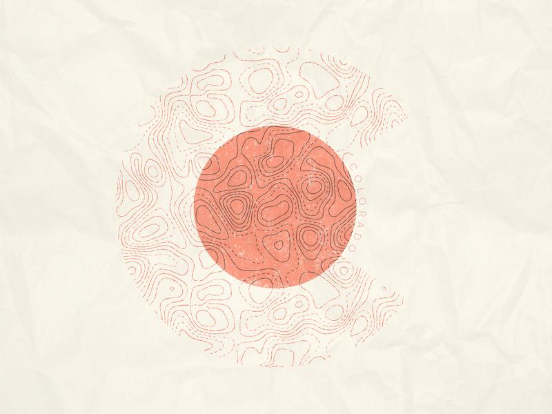 C topo topographic tan orange typography series affinity designer alphabet c letters letter flag logo colorado springs colorado