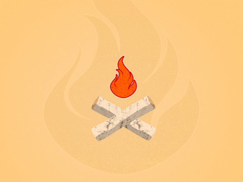 X flame logs log branch wood fire x 36days-x 36daysoftype-x 36daysoftype06 36daysoftype vector art illustration letter affinity designer typography series letters alphabet