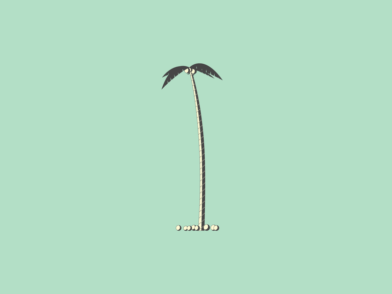 1 gray black yellow green beach tropical coconut palm tree tree 1 36days-1 36daysoftype-1 36daysoftype06 36daysoftype affinity designer series typography letters alphabet