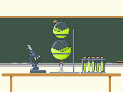 8 microscope science classroom flame beaker liquid chemistry eight 8 36 days of type 36days-8 36daysoftype-8 36daysoftype06 36daysoftype vector illustration affinity designer letters typography alphabet