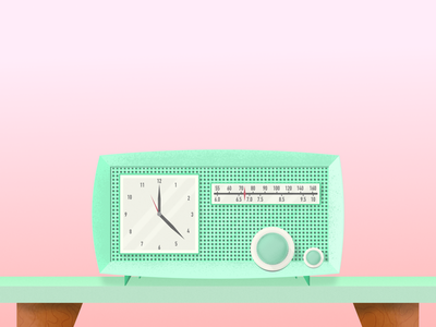 Retro Clock Radio