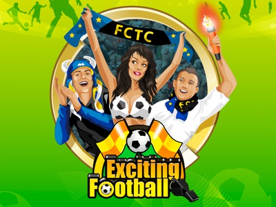 Exciting Football flags whistle goalkeeper red card yellow card stadium prize cup fans referee team emblems sport football exciting digital art game design slot machine slot design game art
