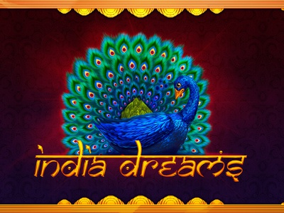 India Dreams spice lotus elephant tiger colorful feather snake charmer monkey cobra temple peacock casino slot machines digital art graphic design gambling game design slot design slot machine game art