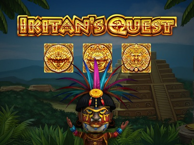 Ikitan's Quest sand sanctuary ruins riddles quest pyramid prize palms maya masks jungle idols hieroglyphs golden chest character slot design gambling slot machine game art
