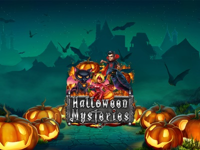 Halloween Mysteries skull emblem ribbon book pumpkin demoness werewolf broom witch fire potion wings cat night moon halloween holidays freaks dracula raven
