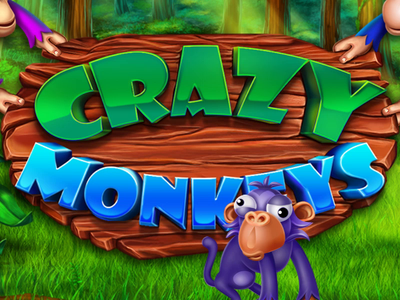 """Crazy monkeys"" macaque orangutan trees plants vines palms bananas jungle monkeys monkey character game design animation digital art slot design gambling slot machine game art"