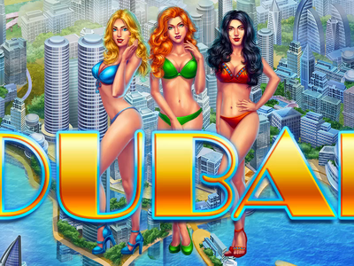 Dubai luxury skyscraper hot coins win dubai sexy girl girls character graphic design digital art game design animation gambling slot design slot machine game art