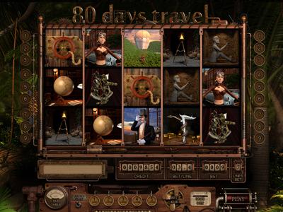 """Slot machine - """"80 days travel"""""""