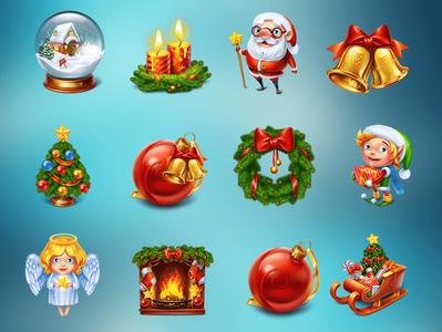 New Year's Symbols Set