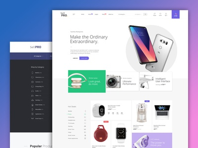 SellPro - eCommerce Template Design website trend modern design landing page debut creative store shop ecommerce