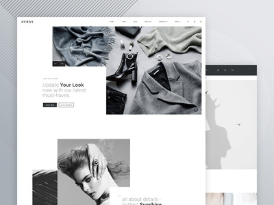 Auray - eCommerce PSD Template magento shopify retail psd store shop ecommerce