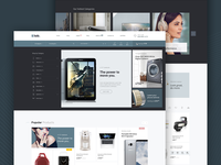 E-lab eCommerce PSD template