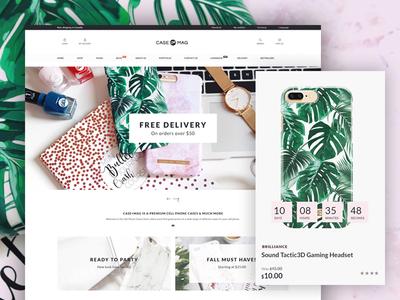 CaseMag - PrestaShop theme website theme accesories psd shop phone case retail prestashop store ecommerce