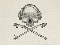 Skull and crossfaders design