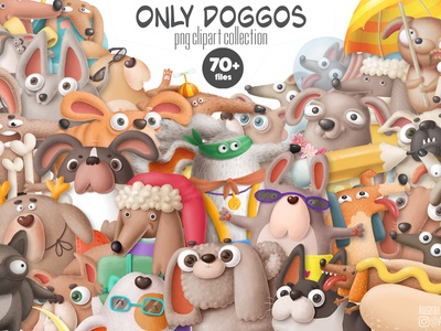dogs bundle png creative market png clipart puppy nursery dogs dog animals design character doodle cartoon illustration