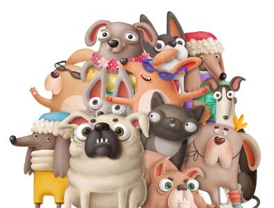 One more funny gang :D design doggy poster logo drawing dog illustration dogs character doodle toonboom toons illustration cartoon