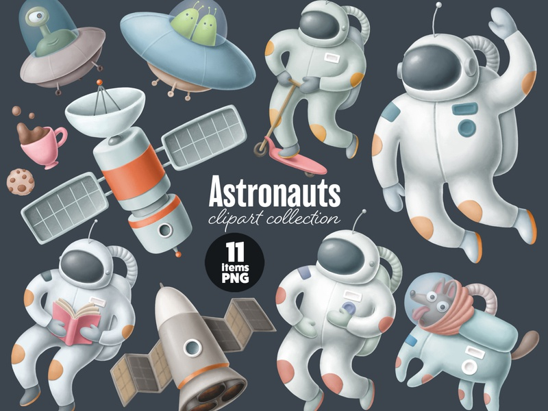 astronauts clipart png character illustration spacedchallenge spaceship spaceman dog alien ufo astronaut