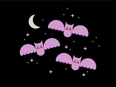 Vectober 08 - Teeth teeth spooky halloween bat vectober inktober geometric texture flat illustration