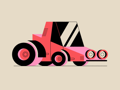 Vectober 13 - Dune vehicle car dune dune buggy vectober inktober geometric texture flat illustration