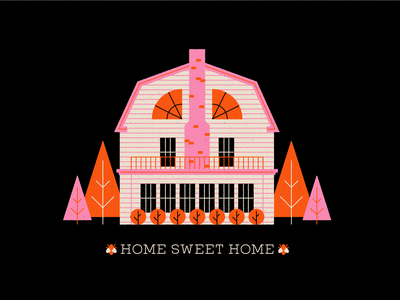Vectober 30 - Ominous amityville horror halloween horror haunted house geometric inktober texture flat illustration