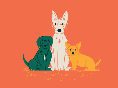 Pup portrait portrait dogs illustration