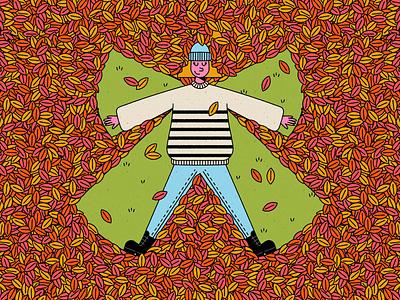Vectober 07: Season basic sweater season leaves autumn fall illustration