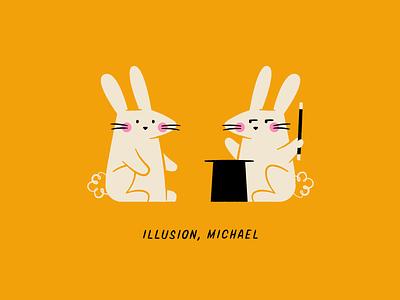 Vectober 21: Illusion illusion magician magic rabbit bunny arrested development illustration