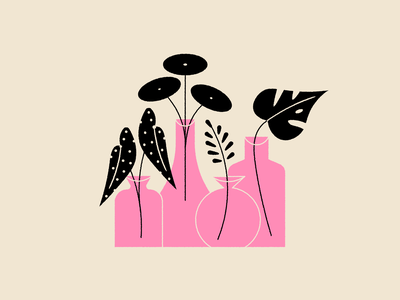 Vectober 23: Harvest begonia monstera leaf garden plant houseplant illustration