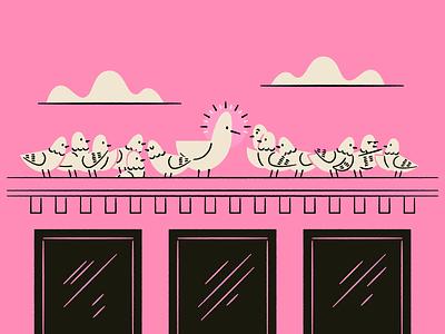 Vectober 27: Companion holy pigeon bird seagull illustration