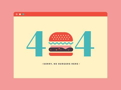 Daily UI Challenge 008 - 404 Page food cheeseburger burger 404 user interface ui dailyui
