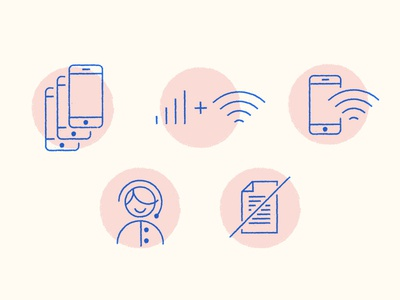 Mobile Icons wifi customer service phone mobile icon