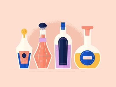 Vectober 10/04 - Spell bottles texture potions spells vectober2018 inktober2018 vectober inktober