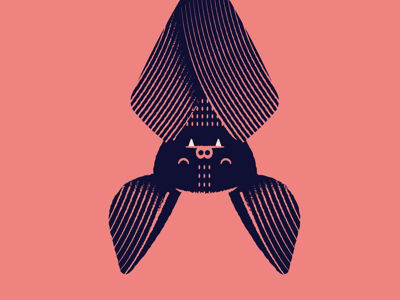 Vectober 10/07 - Exhausted illustration exhausted sleeping halloween spooky bat vectober inktober2018 inktober